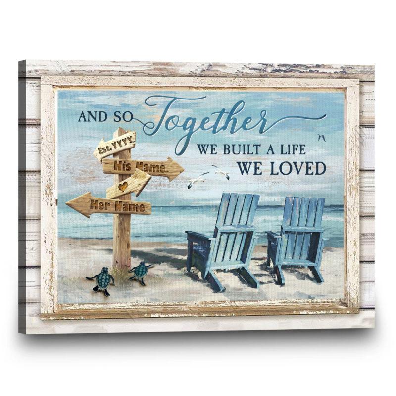 Custom Wall Art, Best Sellers, Together We Built A Life We Loved | Gift4uCanvas