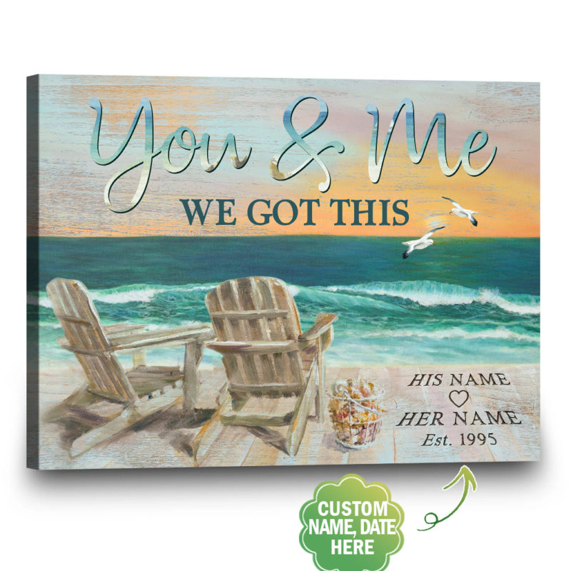 Gift4uCanvas You & Me Personalized Wedding Canvas, Personalized 10th Anniversary Gifts For Her, Personalized 10 Years Anniversary Gifts for Men